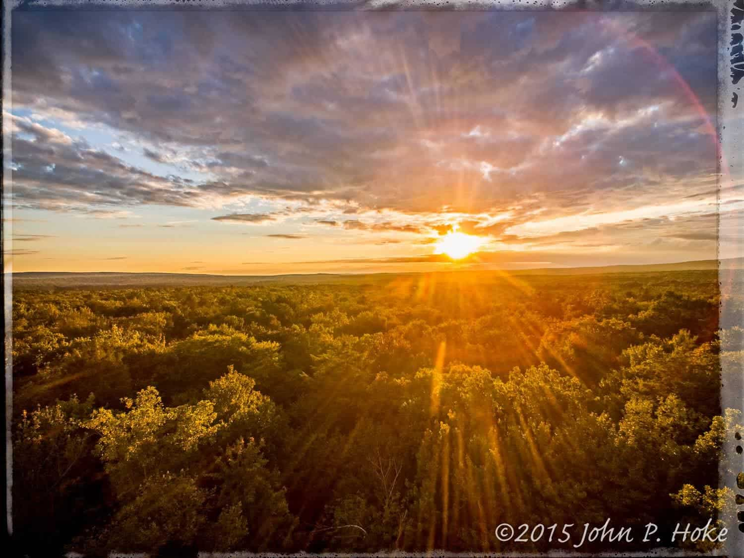 Sunset over the Pocono Mountains (Albrightsville, PA)