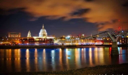 Saint Paul's Cathedral from the River Thames