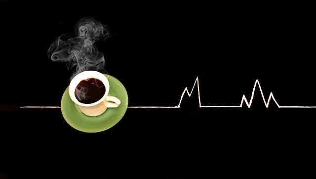 Coffee Heartbeat Drawing