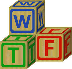 WTF Wooden Letter blocks