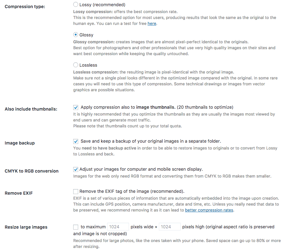 ShortPixel WordPress Plugin Settings
