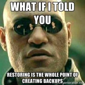 Photography Backup - Restoring is the whole point!