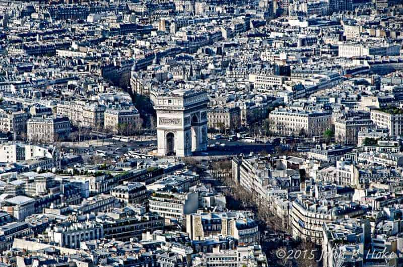 Arc de Triomphe - from La Tour Eiffel