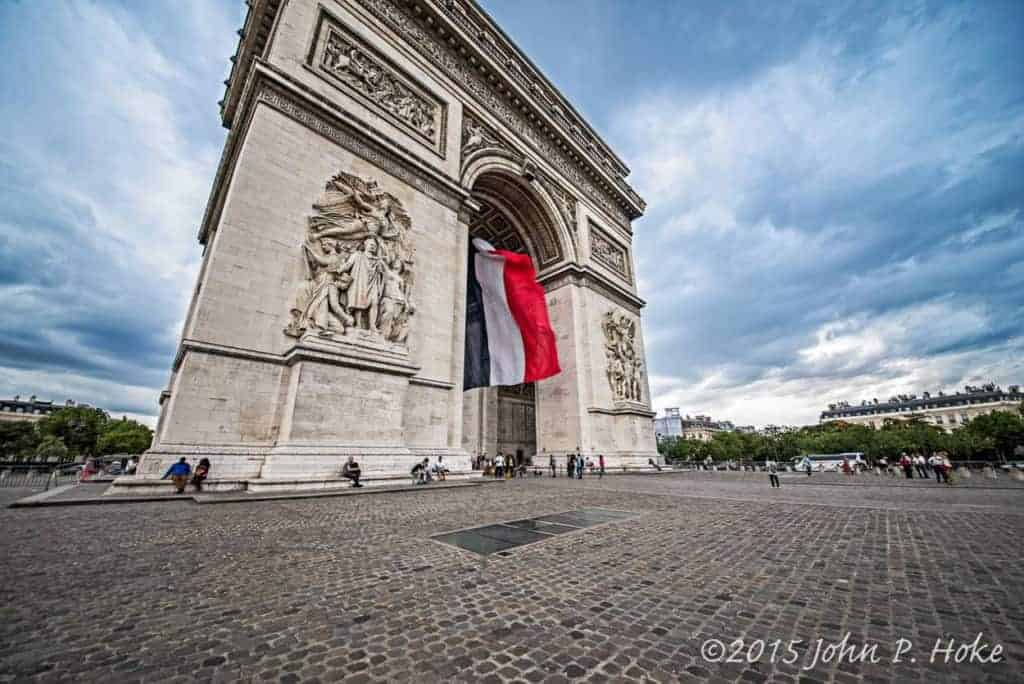 Arc de Triomphe and Tricolors