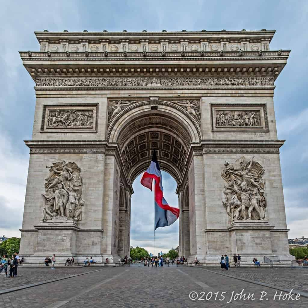 Arc de Triomphe and Tricolors II