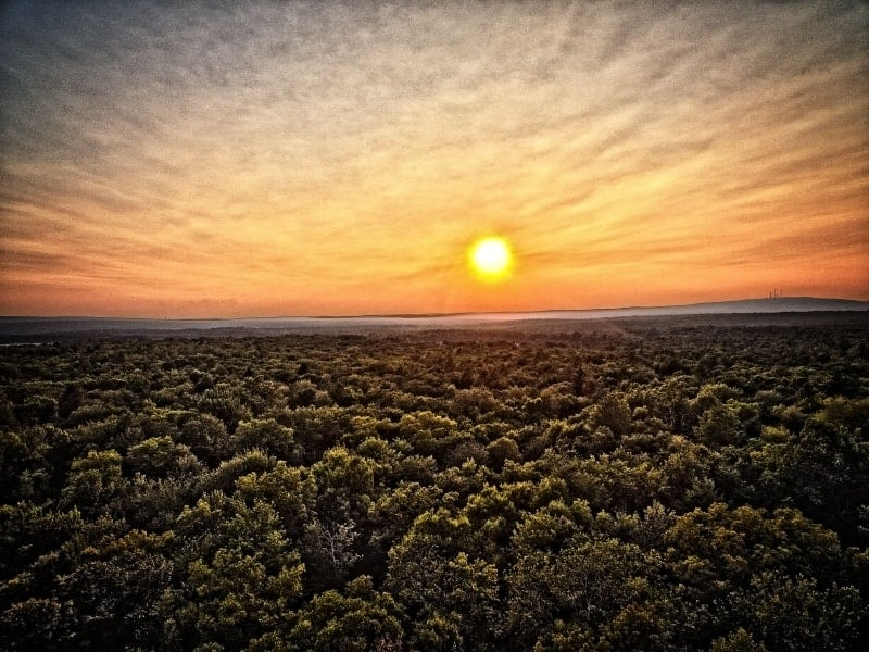 Sunset over the Pocono Mountains at 400' - Phantom 3 Photography
