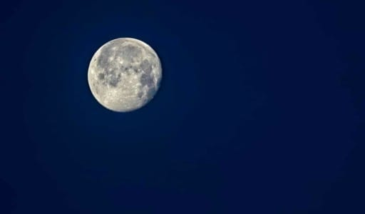 Full Moon in the morning sky shot with Sony A7Rii and Sony 200-600mm f/5.6-6.3 lens