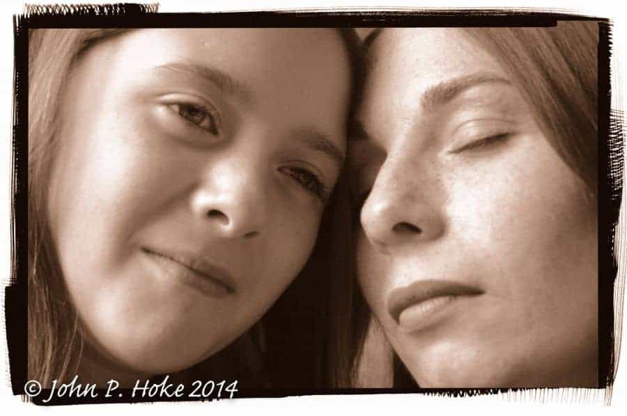 Sepia Mother and Daughter image