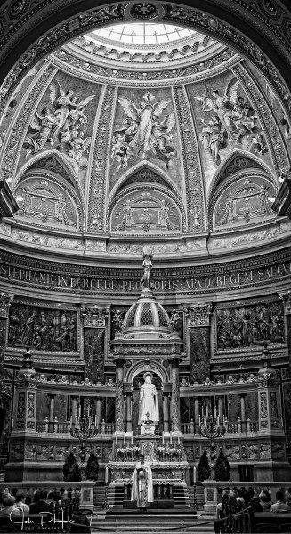 St. Stephens Basilica Budapest - black and white-20130818-John Patrick Hoke