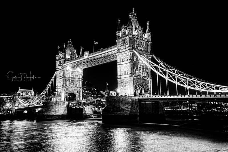Tower Bridge black and white HDR