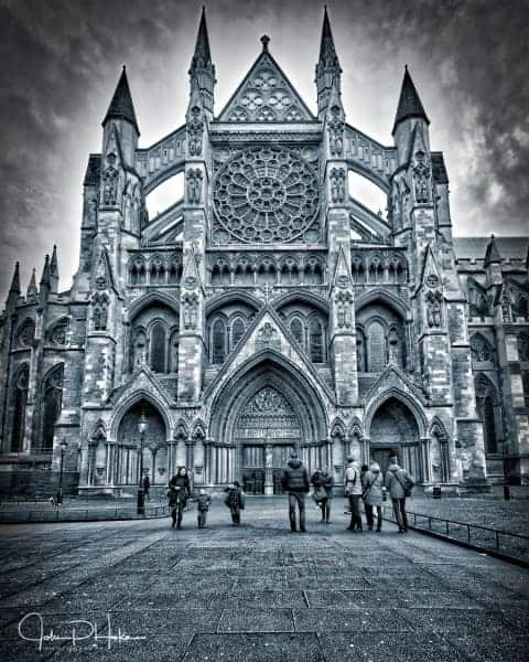 Westminster Abbey Black and White HDR-20160123-John P. Hoke