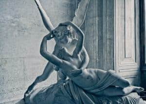 Antonio Canova's Psyche Revived by Cupid's Kiss at the Louvre, Paris
