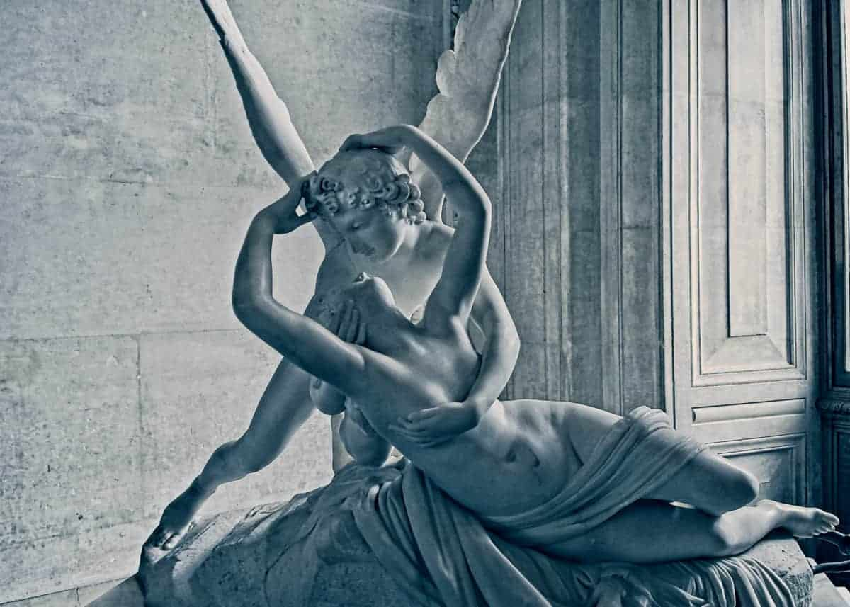 Psyche Revived by Cupid's Kiss - The Louvre, Paris