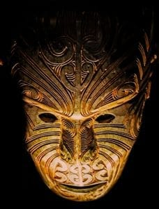Maori mask from the Auckland Museum -
