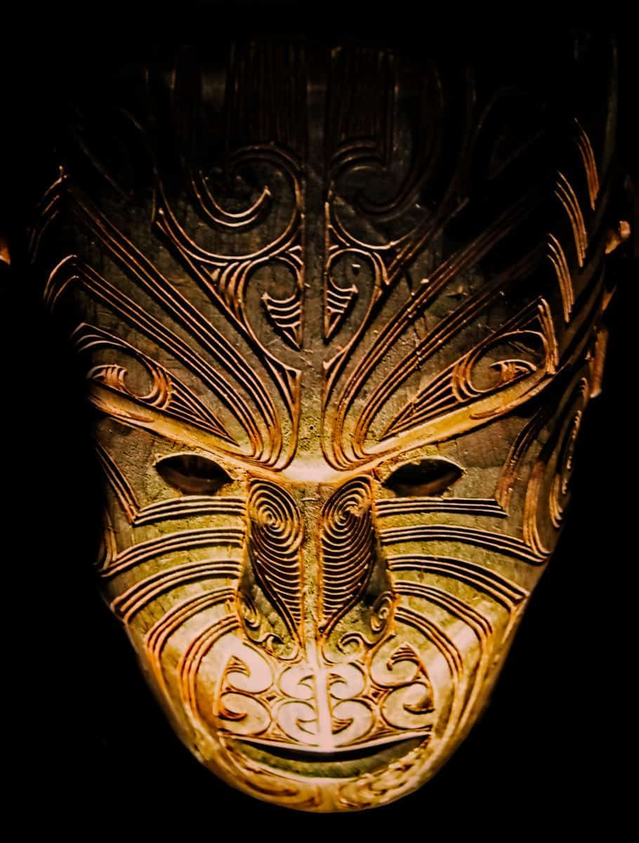 "Maori mask from the Auckland Museum - ""Kiwi Iron Man Mask"""