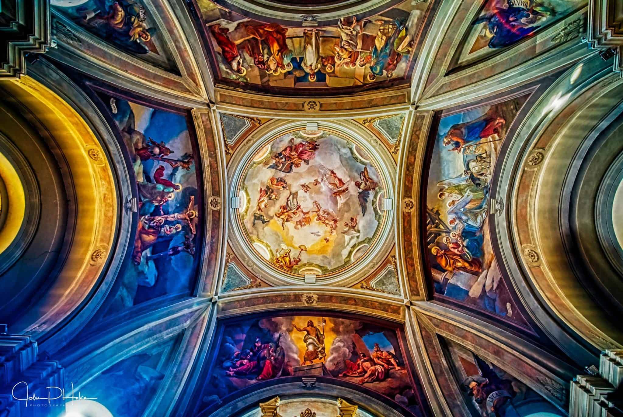 HDR Image of the ceiling of the Como Chapel outside of Milan Italy