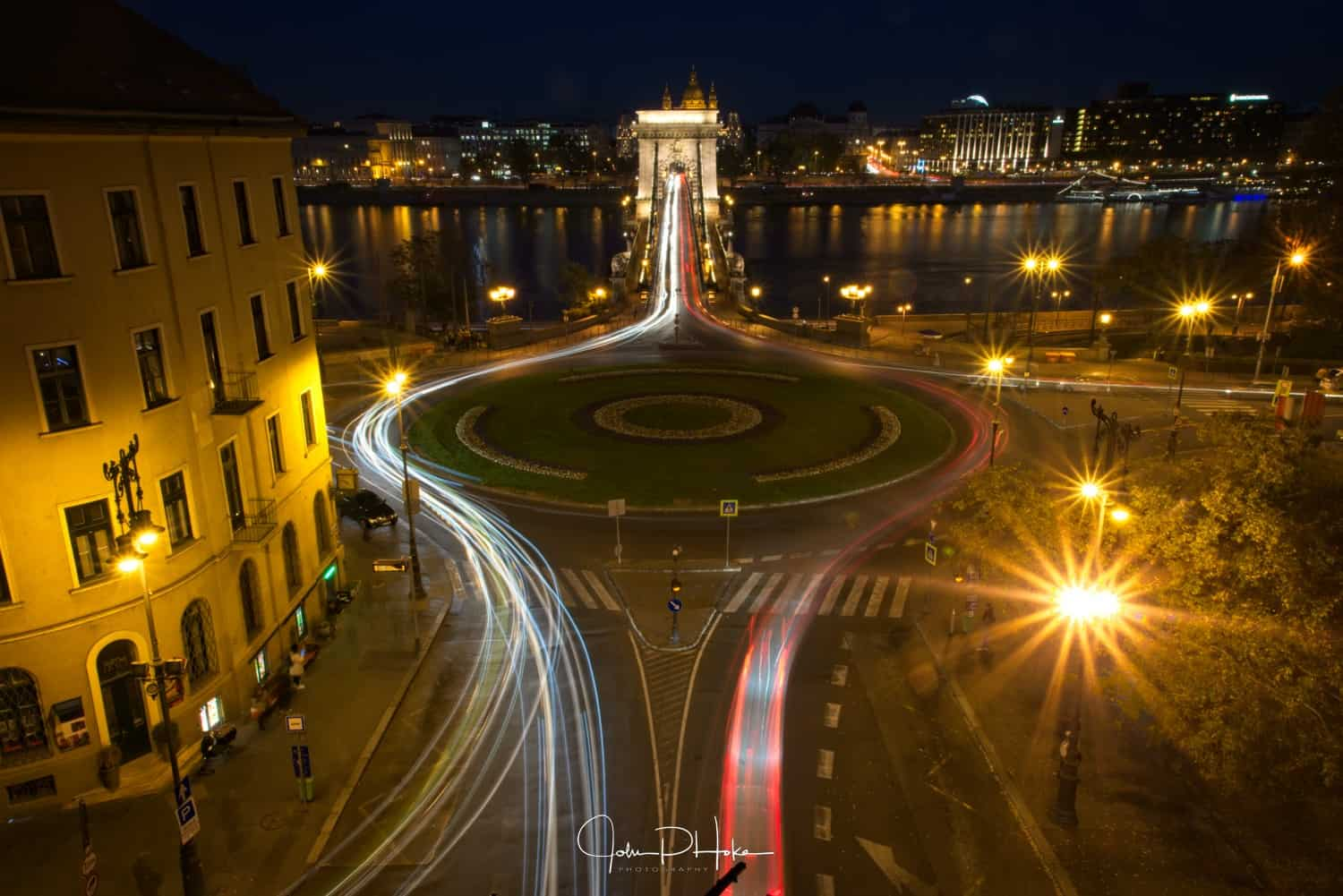 Chain Bridge Traffic Long Exposure Image