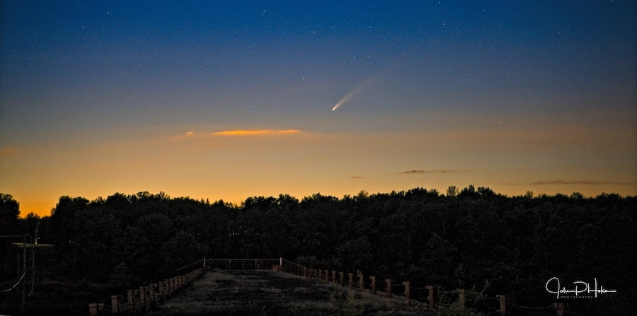 Comet Neowise over Francis E. Lewis Dam - White Haven Pennsylvania