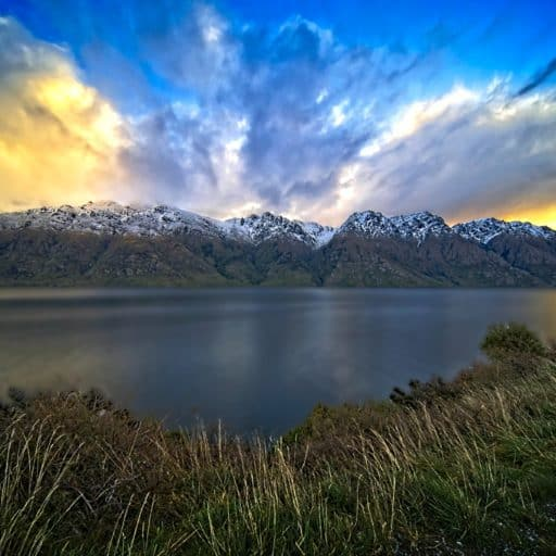 Sunset over the Remarkables, New Zealand